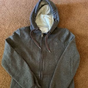 Small champion zip up hoodie